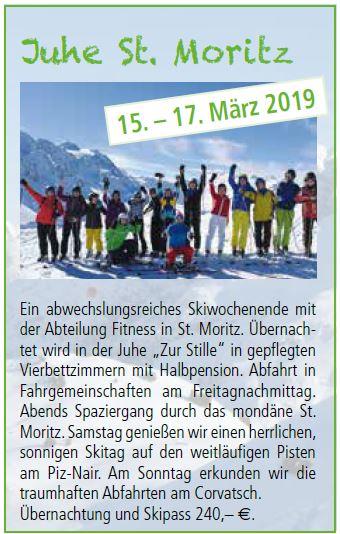 Fitness Skiausfahrt Moritz 2019